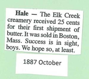 1887 Elk Creamery