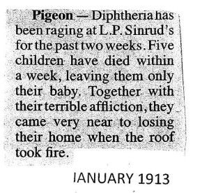 1913 Diptheria PFs