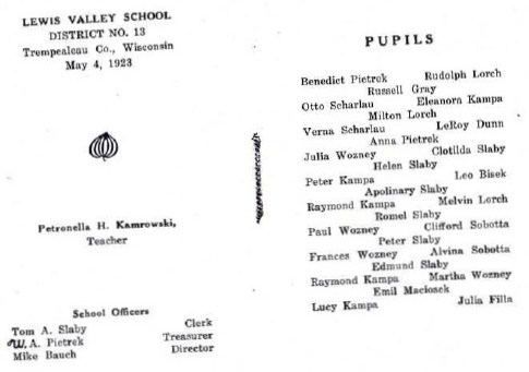 1923 Lewis Valley Sch