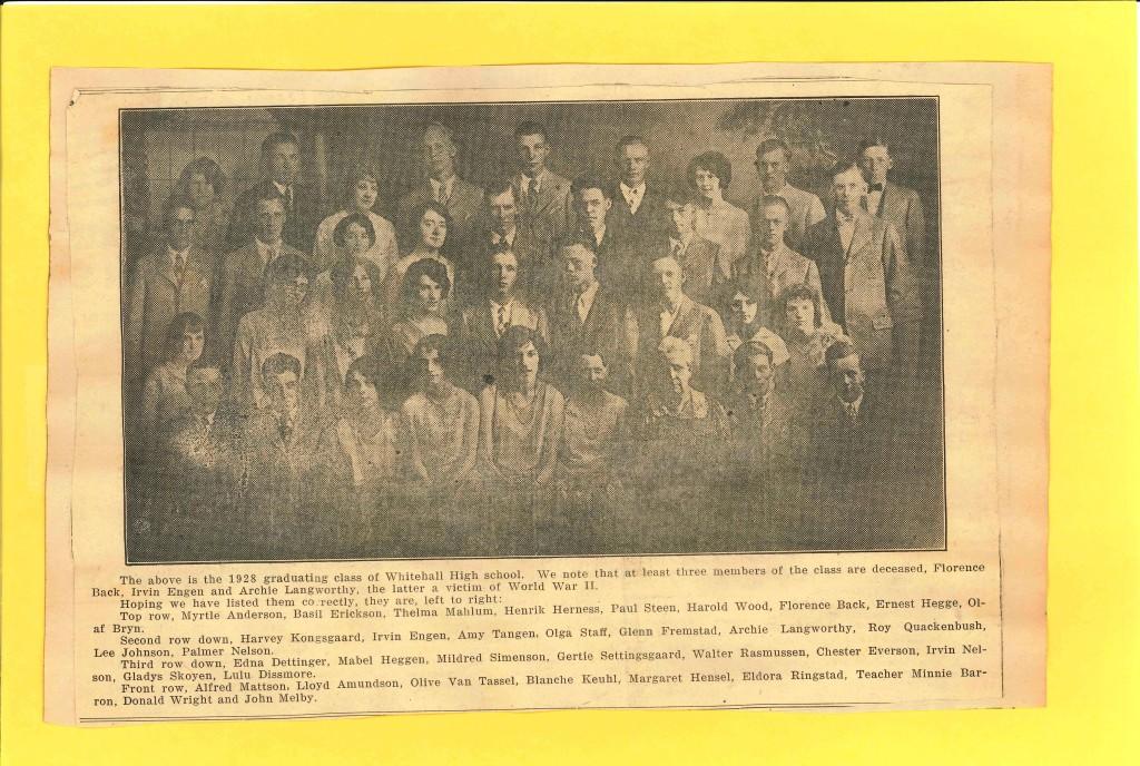 1928 Whthl HS Class