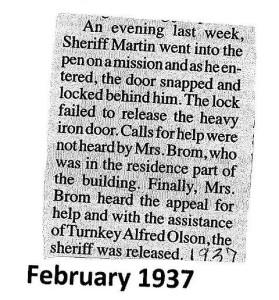 1937 Sheriff Brom