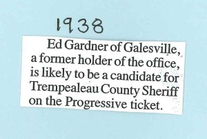 1938 Sheriff Ed Gardner
