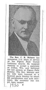 1950 PF Pastor Malmin