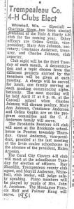 1951 4H Clubs