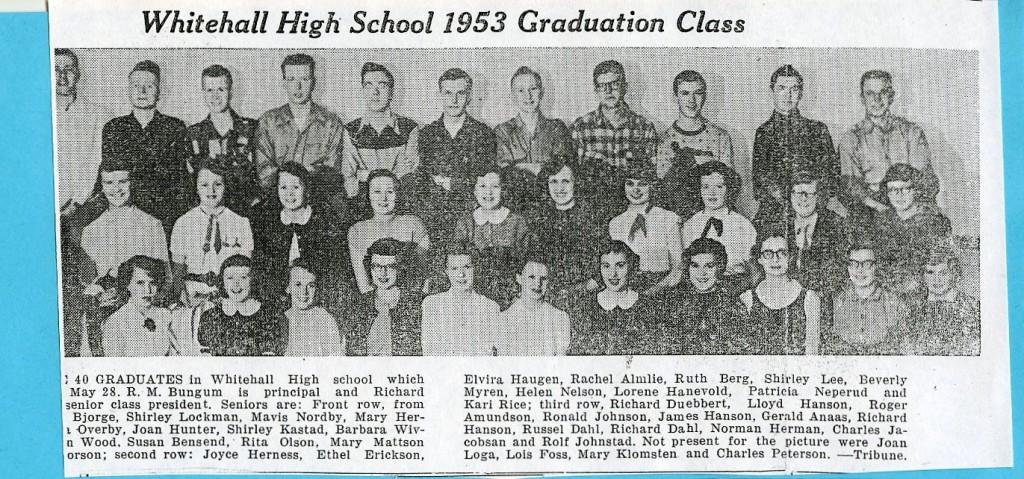1953 Whtl HS Class