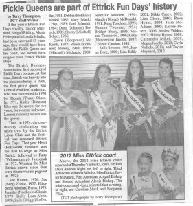2012 Ettrick Pickle Queens