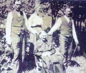 Bertha Olson and children