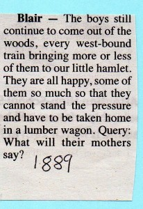 Blair loggers 1889