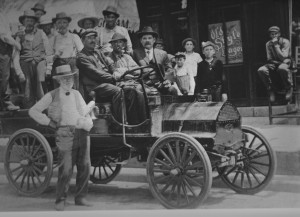 Capt Arnold and new car 1914.jpg