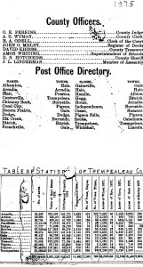 County stats 1875