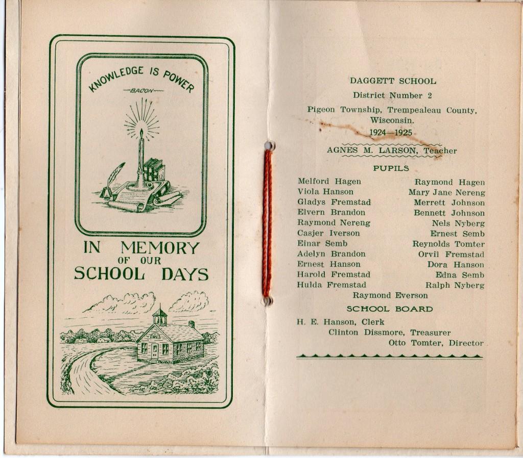Souvenir from Daggett School
