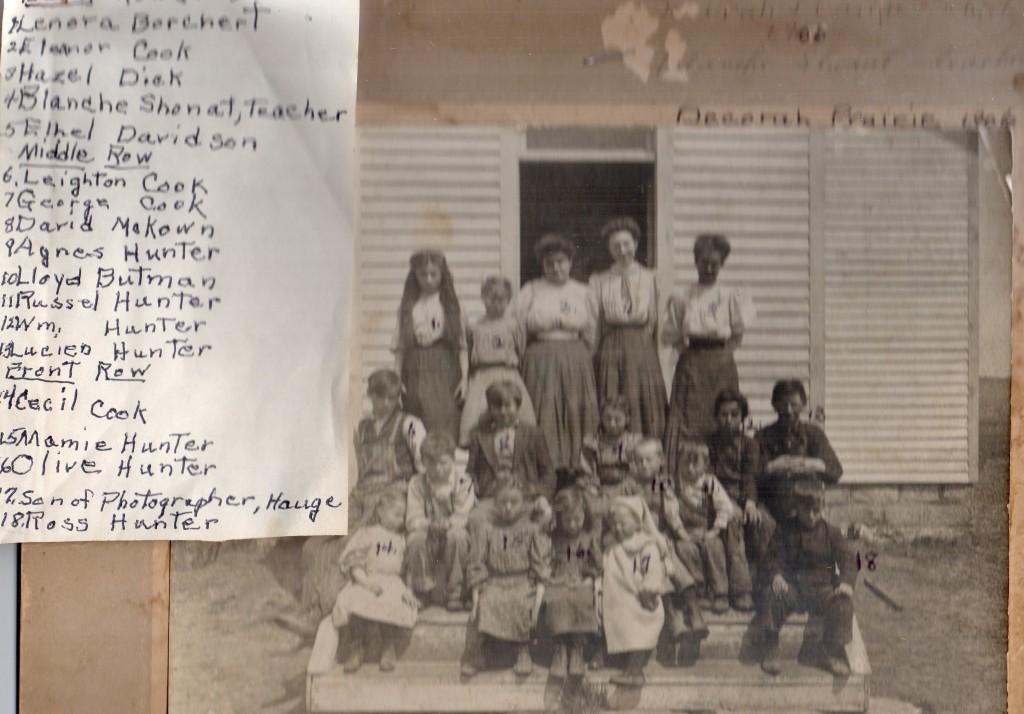 Decorah Prairie 1906 Blanche Shonat-teacher