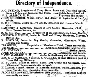 Directory of Independence