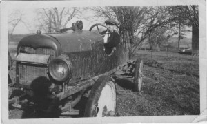 Donald Hunter with Home Builtg car.jpg