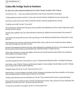 Galesville Bridge 2011