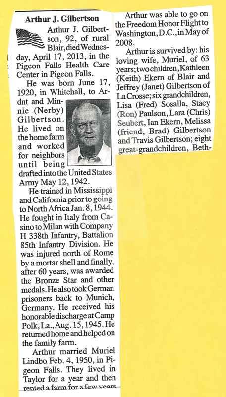 Gilbertson Arthur J