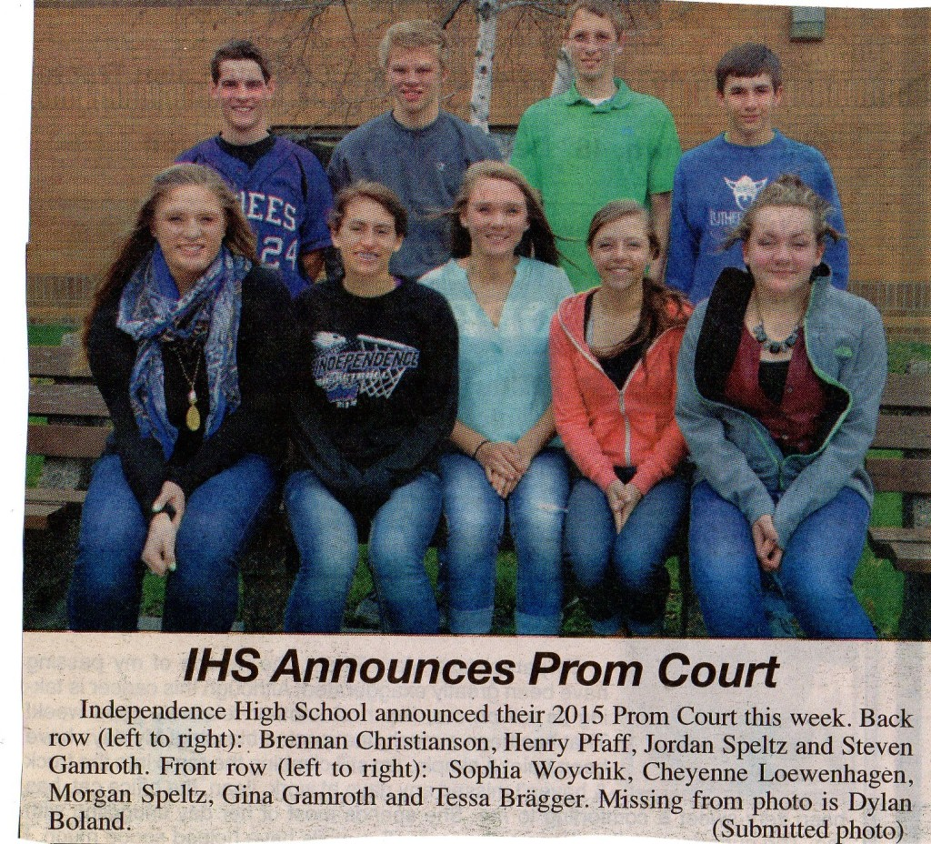 Prom Court 2015 Independence HS