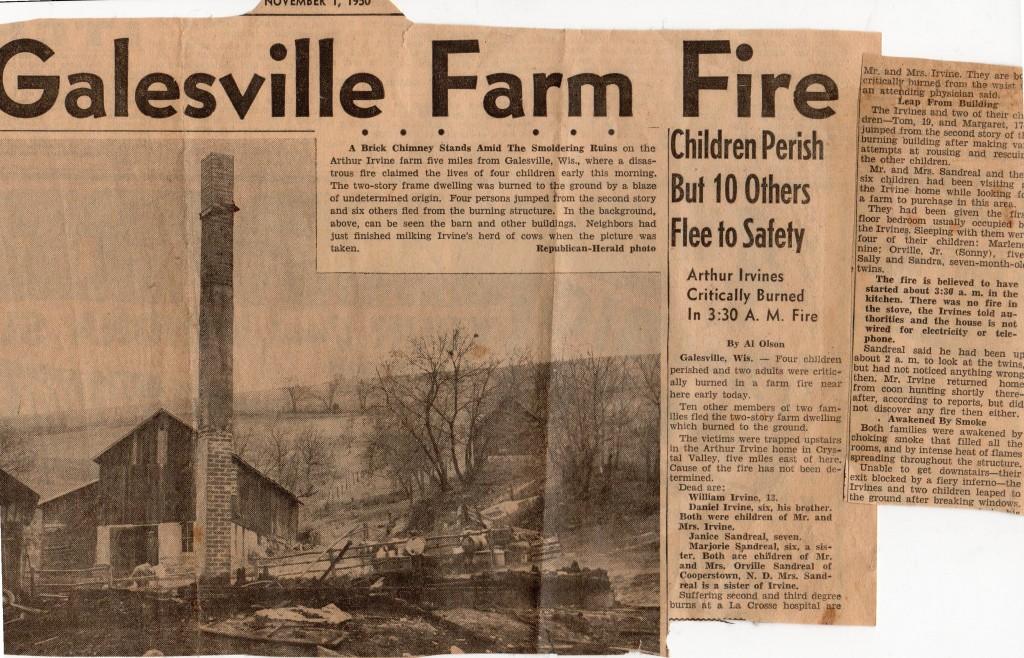 Irvine Farm Fire Tragedy 1950
