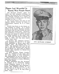 Overby PFC Howard