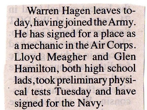 Warren Hagen 1941