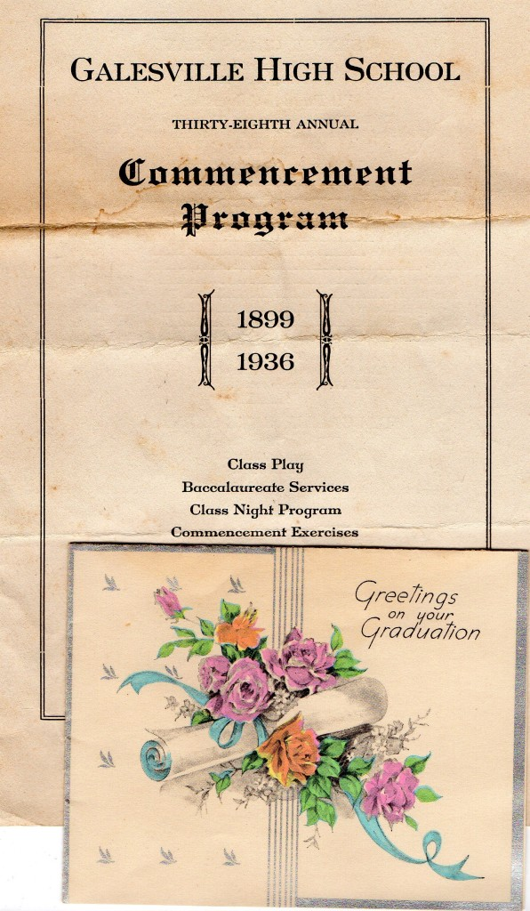 Program 1936 Galesville HS