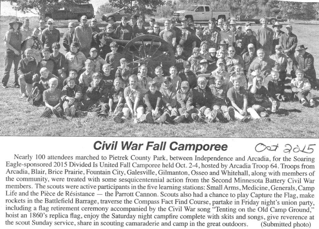 Civil War Camp out at Pietrek Park 2015