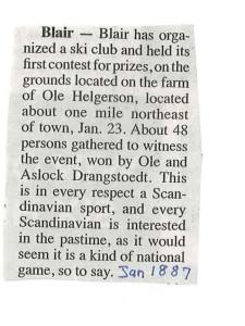 ski club blair