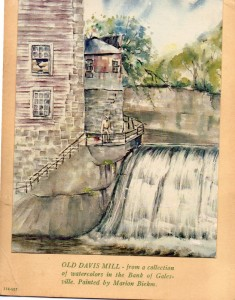 water color of Davis Mill (628x800)
