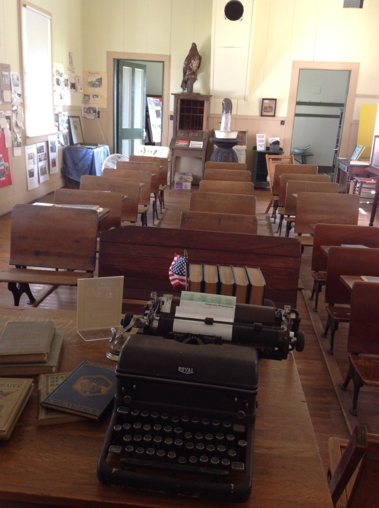 Lee Schoolhouse, 2015-new addition to the teacher's desk--a typewriter