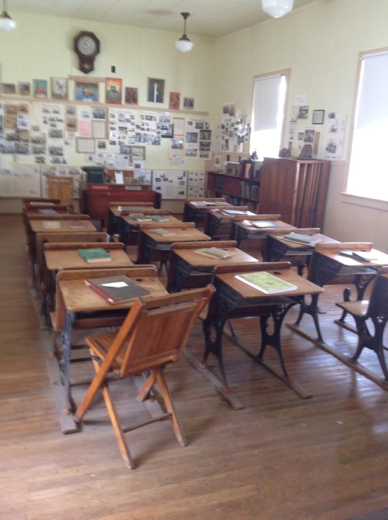 Lee School looking towards the teacher's desk, 2015