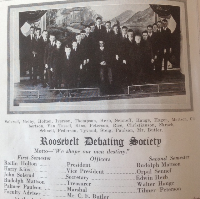 Whitehall High School Debate Club 1922-23